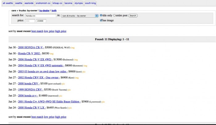 When To Reduce Car Price On Craigslist