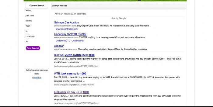How to Make a Quick $1000 With Craigslist Junk Cars for Sale